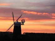 Sunset at Burnham Overy Mill