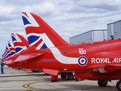 Red Arrows at Norwich airport