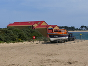 NORFOLK BEACHES. WELLS LIFEBOAT ON THE BEACH