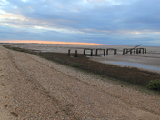 Snettisham beach at sunset