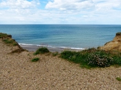 View from the cliff top at Weybourne