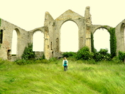 A dull and windy morning at St Martins Church at Covehithe.