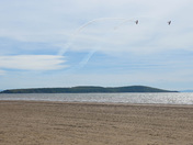 Aerobatics over Brean Down