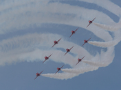 Red Arrows at Weston Air Festival 2018