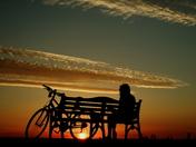 sunset sea front