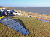 Busy times at Felixstowes premier windsurfing venue, The Dip, Felixstowe