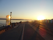 A clear sunny evening on the sea-front