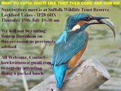 Next iwitters meet Lackford Lakes Thursday 19th July 2018 10-30am