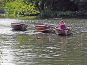 The River Stour at Flatford on a hit Saturday in July