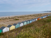 Beach huts at Pakefield