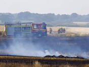 Field fire near Corpusty