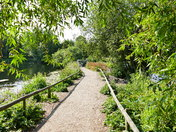 PATH ACROSS THE LAKE AT PENSTHORPE NATURAL PARK