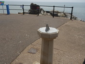 Sundial at Sidmouth sea-front.