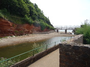 The river leading to Sidmouth beach