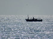 Fishing boat offshore of Sea Palling.