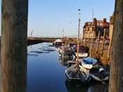BLAKENEY HARBOUR AS DUSK FALLS