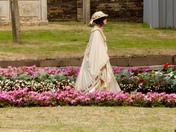 Victorian lady going to church