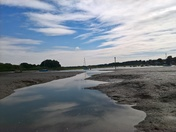 low tide at the tide mill