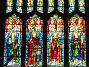Stained Glass window Blakeney Church