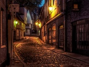 Elm Hill in Norwich at Night.