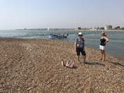 Collecting shells at Bawdsey