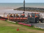 Sidmouth life boat launch
