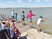 People and children enjoying themselves at Bawdsey