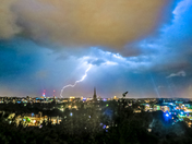 Lightning Over Norwich, St James Hill, U.K from last Friday evening.