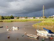 Stormy sky over River Avon