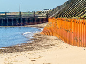 Damage along Gorleston Beach towards Hopton