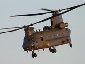 Chinook helicopter leaving Wattisham