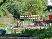 Hadleigh river Brett new foot bridge
