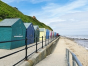 MUNDESLEY BEACH AT HIGH TIDE