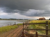 Stormy skies over the Deben