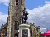 Suffolk History - St Peter's Church & Gainsborough Statue, Sudbury