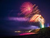 Cromer Carnival Fireworks 2018 from East Runton Beach
