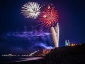 Cromer Carnival fireworks from East Runton beach