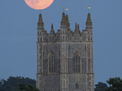Moonrise over St Mary's Redenhall