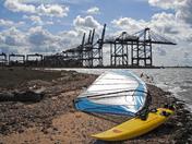Windsurf to Felixstowe docks
