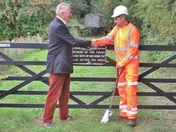 The first sod cutting of the Middy line extension
