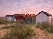 Huts at Sunrise