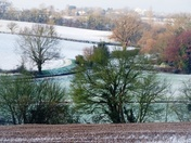 Winter landscape of Rattlesden.(photo challenge)