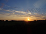 Sunset as seen from the Exeter Road (A376) to Exmouth
