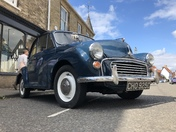 Old Morris minor at Wymondham Vintage day