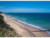 Overstrand beach looking towards Cromer pier