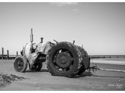 Crab boat tractor Overstrand Beach