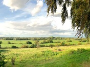 Beautiful Waveney valley in pano.