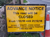 12 week road closure to the A371 in Draycott
