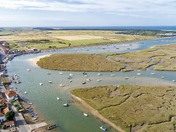 Wells-next-the-Sea from above the East Quay