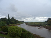 River Clyst on a cloudy Autumn day